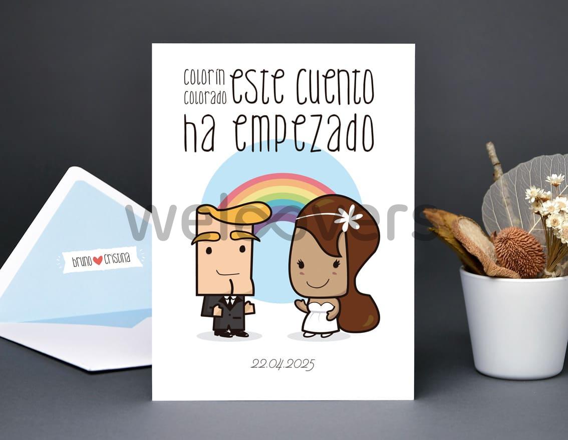 """Invitación de boda """"COLORÍN COLORADO ESTE CUENTO HA EMPEZADO"""""""
