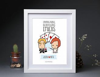 """Lamina de boda """"ENTRE NOSOTROS TODO ENCAJA"""""""