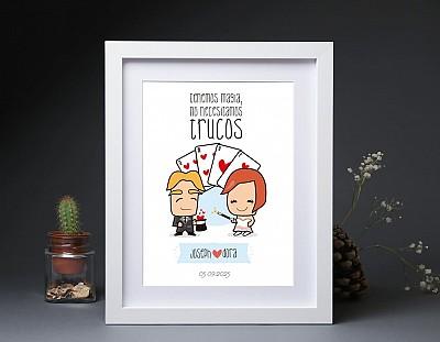 """Lamina de boda """"TENEMOS MAGIA, NO NECESITAMOS TRUCOS"""""""