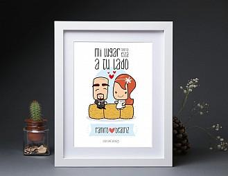 "Lamina de boda ""ESTE BOMBÓN ME HA ROBADO EL CORAZÓN"""