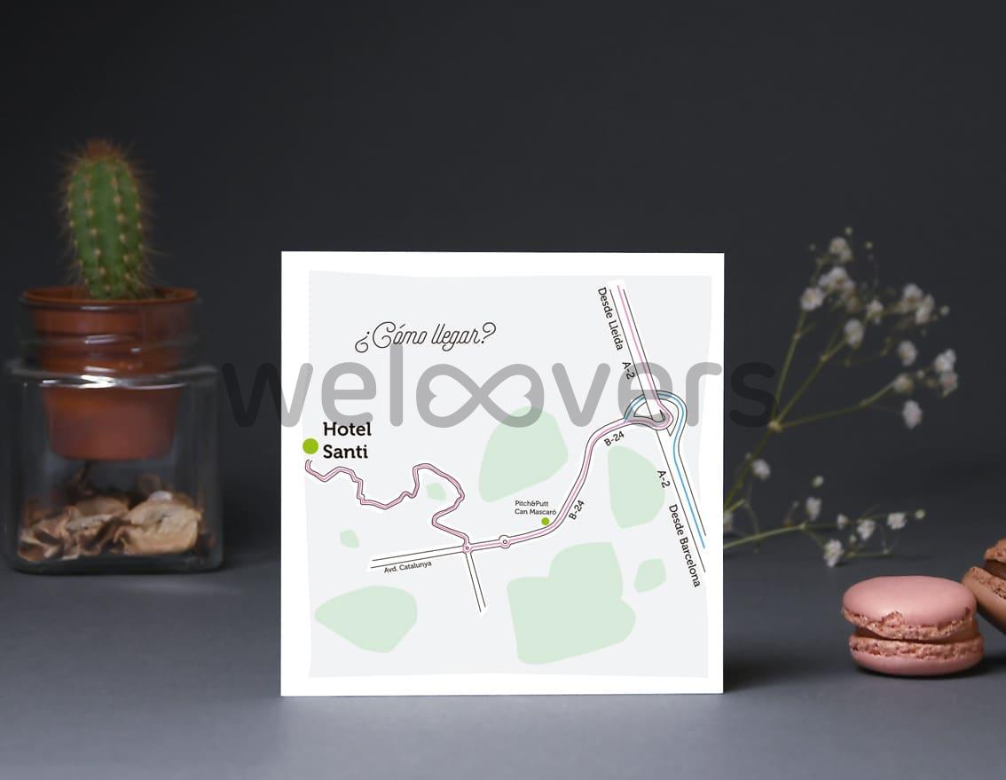 """Mapa de llegada """"TE QUIERO PATODALAVIDA"""""""