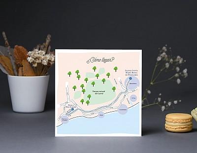"""Mapa de llegada """"INVITADOS, NOVIOS... Y ACCIÓN"""""""