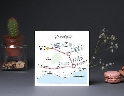 """Mapa de llegada """"A CASARSE A BAILARSE Y A DESATARSE"""""""