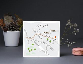 """Mapa de llegada """"AUNQUE NUESTRA BODA CAIGA EN LUNES LO DAREMOS TODO"""""""