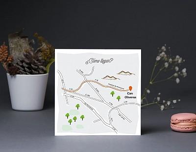 """Mapa de llegada """"DE TODAS LAS SONRISAS LA TUYA ES MI FAVORITA"""""""