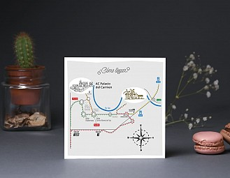 """Mapa de llegada """"A TU LADO SE ME PASAN LAS HORAS VOLANDO"""""""