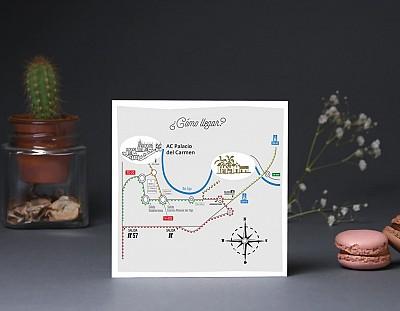"""Mapa de llegada """"SI NO LO DECIMOS REVENTAMOS ¡NOS AMAMOS!"""""""