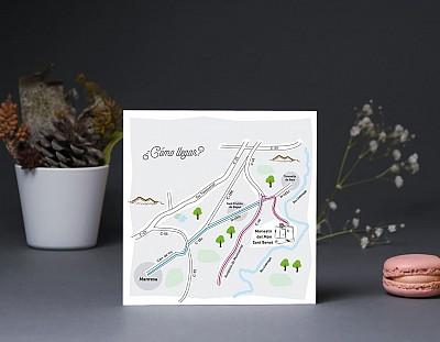 """Mapa de llegada """"MI LUGAR FAVORITO ESTÁ A TU LADO"""""""