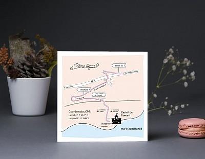 """Mapa de llegada """"NUESTRO AMOR ESTÁ A TOPE"""""""