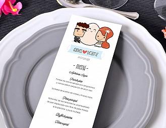 "Minuta de boda ""MI LUGAR FAVORITO ESTÁ A TU LADO"""
