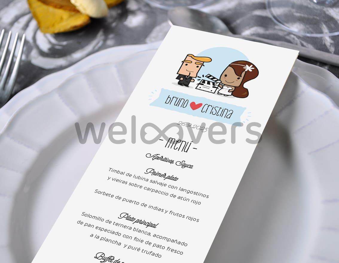 """Minuta de boda """"INVITADOS, NOVIOS... Y ACCIÓN"""""""