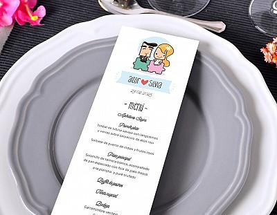 """Minuta de boda """"ENTRE NOSOTROS TODO ENCAJA"""""""