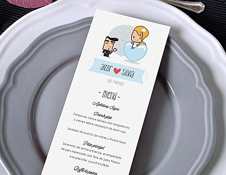 "Minuta de boda ""A TU LADO SE ME PASAN LAS HORAS VOLANDO"""
