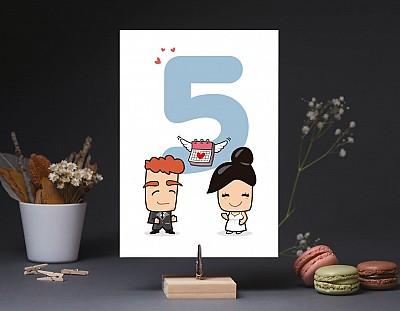 """Número de mesa boda """"AUNQUE NUESTRA BODA CAIGA EN LUNES LO DAREMOS TODO"""""""