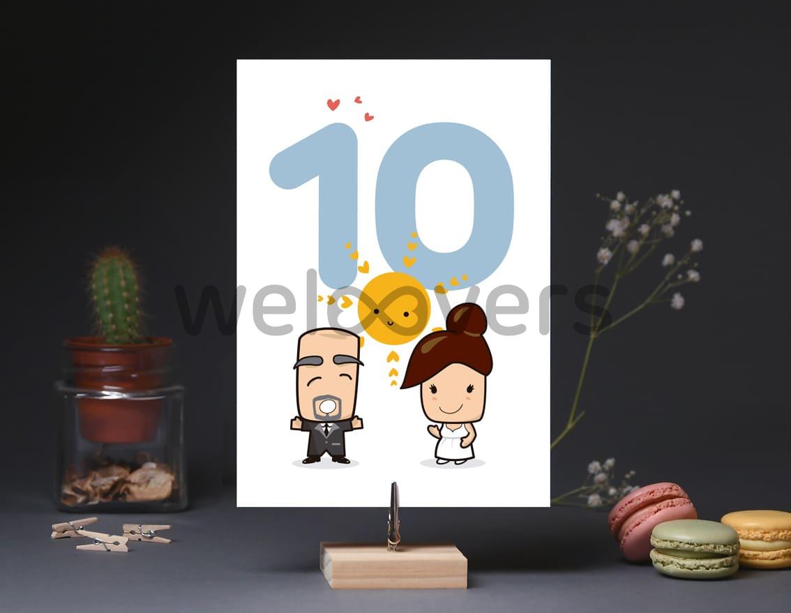 """Número de mesa boda """"AL BUEN TIEMPO BUENA BODA"""""""