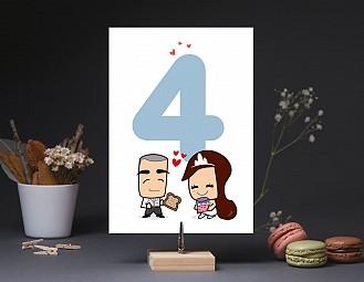 """Número de mesa boda """"TE QUIERO PATODALAVIDA"""""""