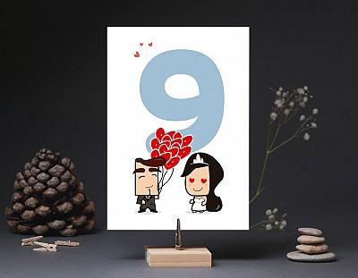 """Número de mesa boda """"DE TODAS LAS SONRISAS LA TUYA ES MI FAVORITA"""""""