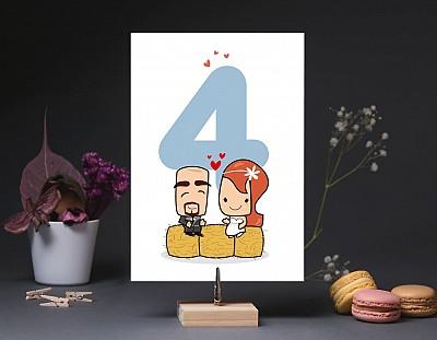 """Número de mesa boda """"MI LUGAR FAVORITO ESTÁ A TU LADO"""""""