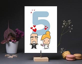 """Número de mesa boda """"NOS QUEREMOS UN HUEVO"""""""