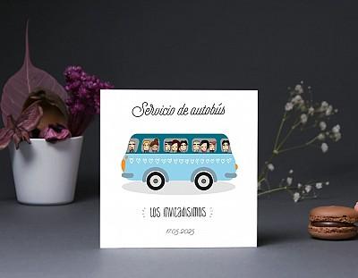 """Tarjeta bus boda """"QUIERO SER LA MERMELADA DE TU TOSTADA"""""""