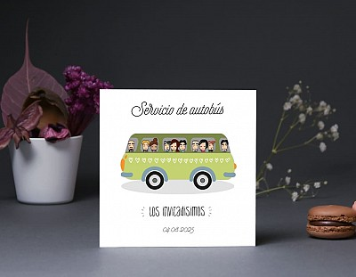 "Tarjeta bus boda ""LA MELODÍA DE MI VIDA ERES TÚ"""