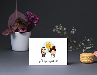 """Tarjeta agradecimiento boda """"QUIERO SER LA MERMELADA DE TU TOSTADA"""""""