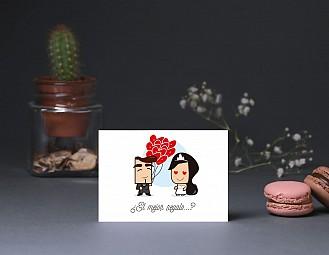 """Tarjeta agradecimiento boda """"SI NO LO DECIMOS REVENTAMOS ¡NOS AMAMOS!"""""""